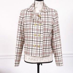 NWT Jones NY wool plaid winter jacket, size 8